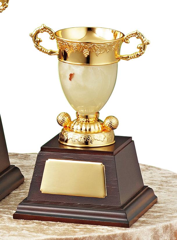 【文字彫刻無料】優勝カップ(C1331D)高さ:17.5cm/リボン無料/オニックス/ゴルフ