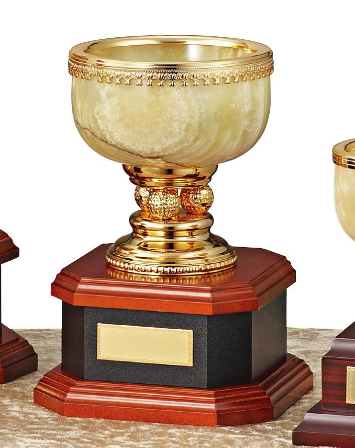 【文字彫刻無料】優勝カップ(C1332C)高さ:20cm/リボン無料/オニックス/ゴルフ