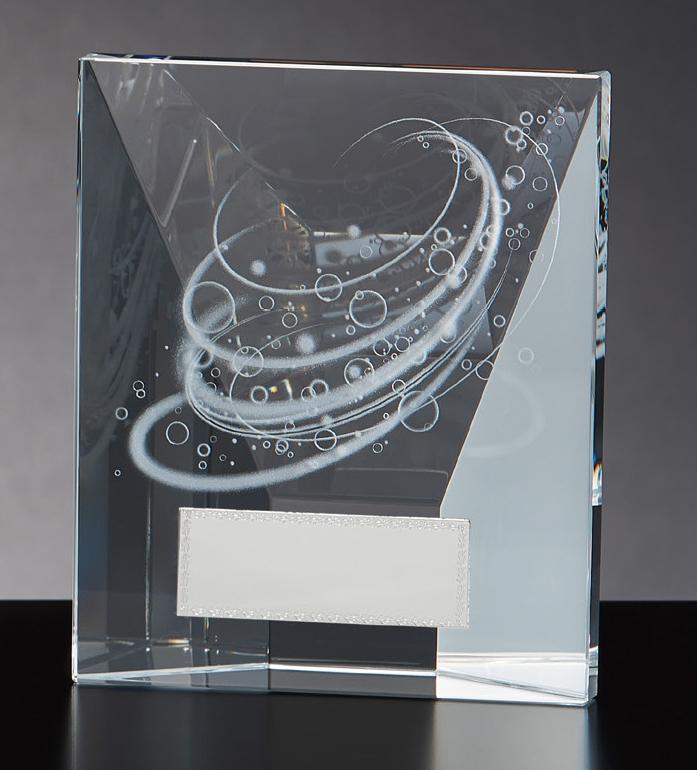 【文字彫刻無料】クリスタル(G4807C)高さ:12.5cm