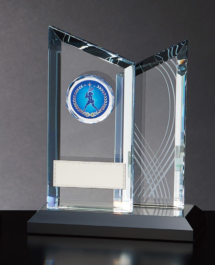 【文字彫刻無料】クリスタル(GW4837C)高さ:17.5cm/種目選択可