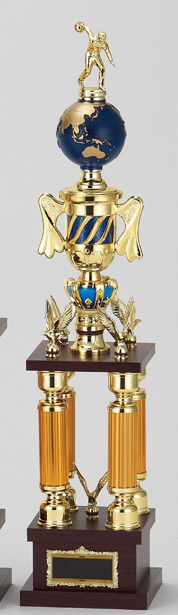 【文字彫刻無料】トロフィー(T3614E)高さ:68cm/リボン無料/人形選択可/4本柱