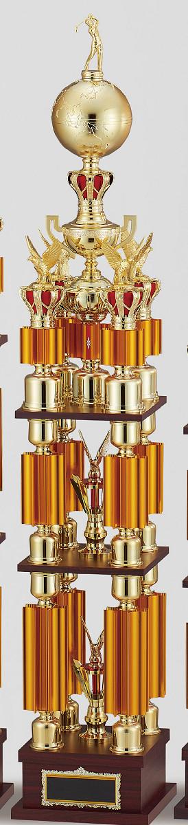 【文字彫刻無料】トロフィー(T3619C)高さ:141cm/リボン無料/人形選択可/4本柱
