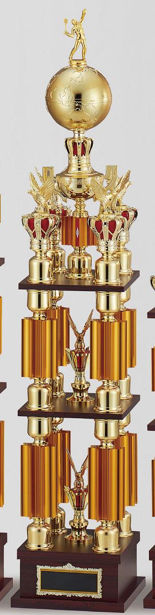 【文字彫刻無料】トロフィー(T3619D)高さ:127cm/リボン無料/人形選択可/4本柱
