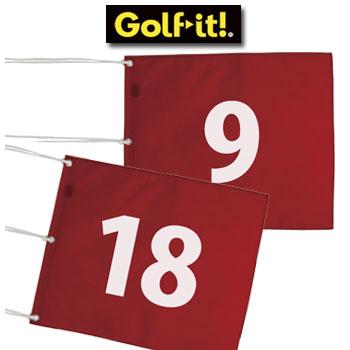 ナイロン 番手付き 四角旗 9枚セット M-111 フラッグ ライト LITE ゴルフ [ゴルフコース用品]【ラッキーシール対応】
