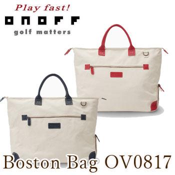 オノフ ONOFF ボストンバッグ OV0817 キャンバスレザーシリーズBoston Bag グローブライド 【セール価格】
