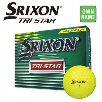 【オンネーム対応】ダンロップ スリクソン SRIXON TRI-STAR ボール 3ダース(36球) プレミアムパッションイエロー DUNLOP ゴルフボール オウンネーム無料 【ラッキーシール対応】
