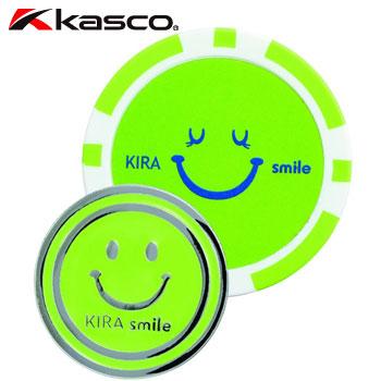 アウトレット☆送料無料 !超美品再入荷品質至上! 日本正規品 とてもかわいいKIRA Smileカジノマーカーペアセット 即納 キャスコ KASCO KIRA セール価格 Smileカジノマーカー親子セット ライム 147957 メール便可能 KIZM1610B