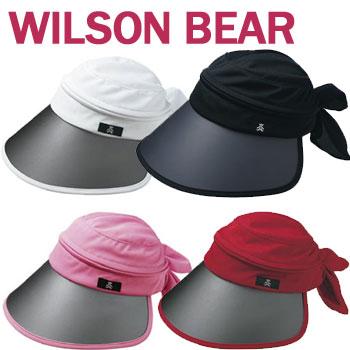 日本正規品 気になる頬上もしっかりカバー 即納 ウィルソン 待望 ベア レディース 3-WAY CAP バイザー ツバ広バイザー ウイルソンベア BEAR ゴルフ WBC2033L 選択 WILSON 148306 セール価格