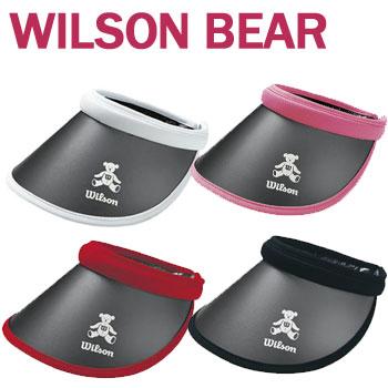日本正規品 ウイルソンベア クリップバイザー 即納 ウィルソン ベア レディース ゴルフ 百貨店 売れ筋 WBV2027L BEAR セール価格 WILSON バイザー 148307