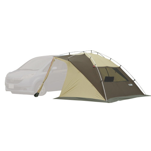 (OGAWACAMPAL)小川キャンパル カーサイドリビングDX ブラウン×サンド×レッド  アウトドア アウトドア用品 アウトドアー 用品 アウトドアグッズ キャンプ キャンプ用品 キャンプグッズ おしゃれ テント キャンプテント テント用品