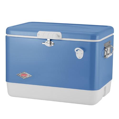 (Coleman)コールマン 54qt 60thアニバーサリー スチールベルトクーラー(ブルー) |キャンプ用品 クーラーボックス アウトドア用品 クーラー グッズ キャンプ アウトドア バーベキュー 保冷 ボックス 便利