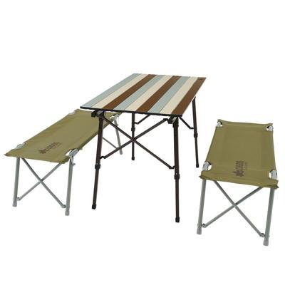 (LOGOS)ロゴス LOGOS Life オートレッグベンチテーブルセット4(ヴィンテージ)