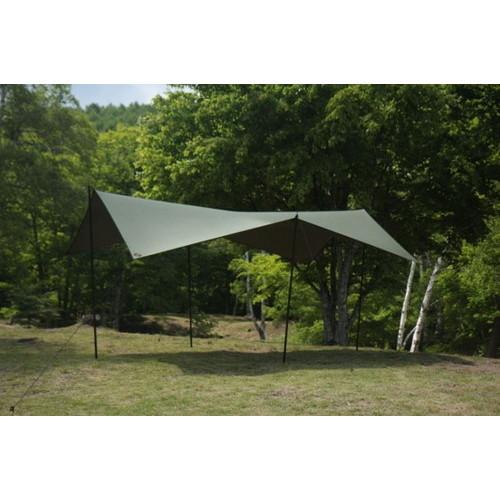(SOTO LABO)ソトラボ cotton KOKAGE tarp (ARMY GREEN)   タープ スクエア 木陰 テント キャンプ アウトドア バーベキュー 焚き火 フェス キャンプ用品 便利 おしゃれ