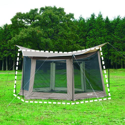 (UNIFLAME)ユニフレーム REVOメッシュウォール2 M TAN | 雨除け 風避け 日除け テント タープ オプション キャンプ アウトドア バーベキュー 焚き火 登山 フェス キャンプ用品 おしゃれ