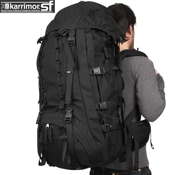 【店内20%OFFセール開催中】karrimor SF カリマースペシャルフォース Sabre 60-100 バッグパック  BLACK 【Sabre 75】 長期行動が可能な大容量のバッグパック《WIP03》