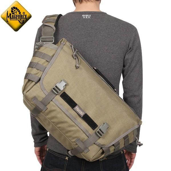 【店内20%OFFセール開催中】MAGFORCE マグフォース MF-6023 Tactical Messenger Bag Tan/FGW モール対応のウェビングも付属 している機能的なメッセンジャーバッグ