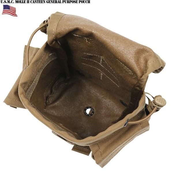 실물 신품 미 육군 MOLLE II CANTEEN GENERAL PURPOSE POUCH COYOTE BROWN 미 해병대 (USMC)에서 사용 되는 물병 수납 파우치 다목적 유틸리티 파우치로 사용 하는 것이 가능