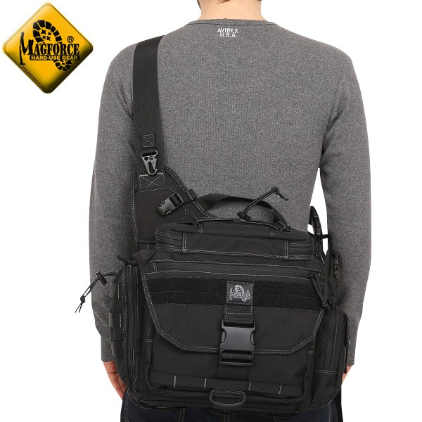 【店内20%OFFセール開催中】MAGFORCE マグフォース MF-0439 Fatboy2 Shoulderpack Black