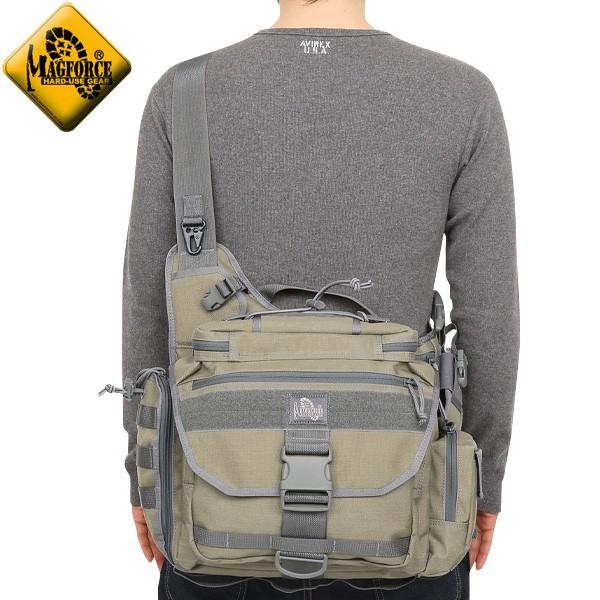 【店内20%OFFセール開催中】MAGFORCE マグフォース MF-0439 Fatboy2 Shoulderpack Tan/FGW
