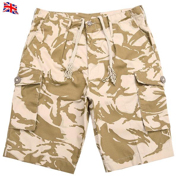 真正的品牌新英國陸軍作戰短褲 (短褲) 沙漠 DPM 迷彩和建優雅和鋒利的偽裝模式腰肩帶,大小可調
