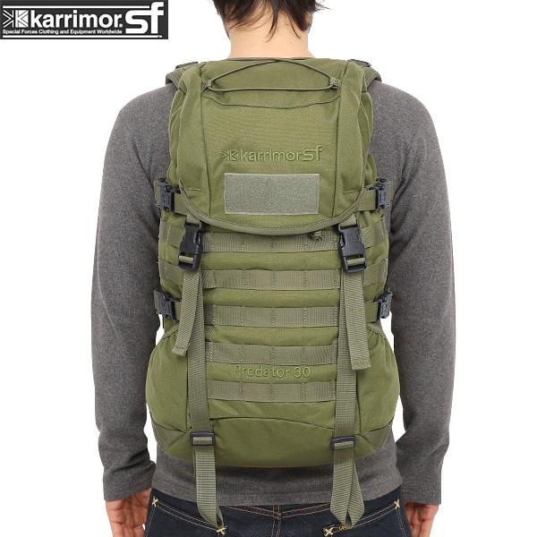 karrimor SF カリマー スペシャルフォース Predator 30 バッグパック OLIVE 【Predator 30】【Sx】 Predator 30はMOLLEシステム搭載の コンパクトモデルのバックパック タウンユースでも非常に使いやすいサイズ《WIP03》pd