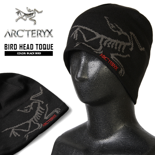 In the knit Cap lining 10P08Feb15ARC TERYX Arc Teryx BIRD HEAD TOQUE knit Cap  BLACK BIRD bird mark the impact of outstanding fleece both outstanding  using ... 7bec14f3c2f5