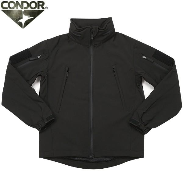 CONDOR コンドル 602 SUMMIT タクティカル ソフトシェルジャケット BLACK 軽量・透湿・防水のポリエステル100%素材 非常に機能的デザイン性にも優れた ソフトシェルジャケット《WIP03》 【クーポン対象外】