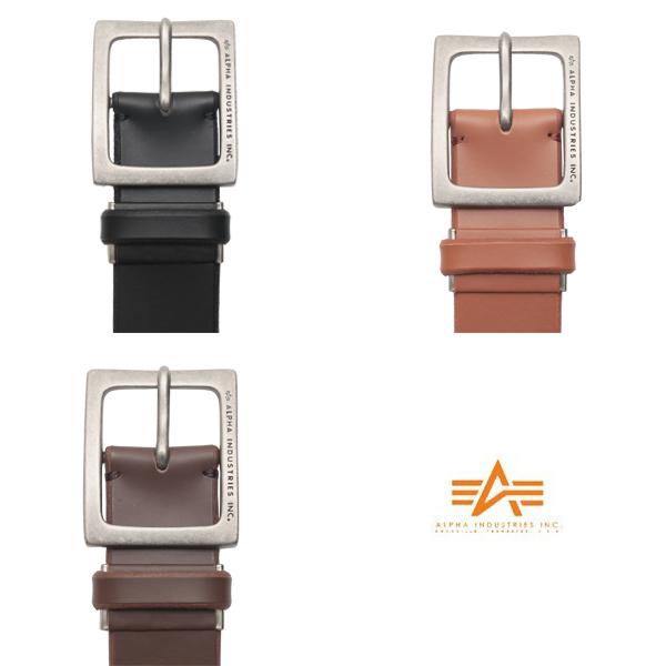 有ALPHA阿爾法AL-BB017 nakaichisukueabakkururezaberuto 3色簡單,容易使用的皮革皮帶重量感覺的廣場帶扣吸引眼睛的設計