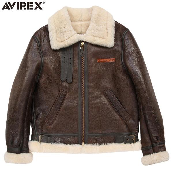 "AVIREX アビレックス 2104 B-3 シープスキン レザージャケット BROWN(48・50) 極寒の高空飛行時に使われた通称""ボマージャケット"" 妥協のないディティール・素材使いがまさに一生物 《WIP03》【クーポン対象外】"