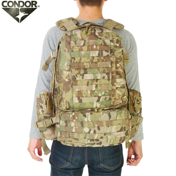 Can be attached using MOLLE Compatible pouch CONDOR Condor 3 Day Assault  Pack MULTICAM CORDURA nylon fabric 3688365d9b