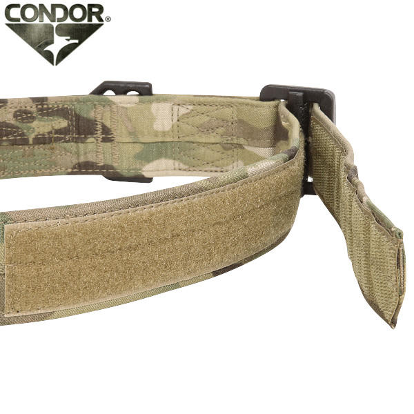 The very strength of strong lightweight tactical belt CONDOR Condor RIGGER  belt MultiCam steel buckles and nylon. ab1418d253
