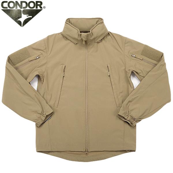 CONDOR コンドル 609 SUMMIT ZERO LIGHTWEIGHT タクティカル ソフトシェルジャケット TAN ライトウェイトに設計され滑らかな質感 軽量・透湿・防水のポリエステル100%素材を使用 幅広い用途でお使い頂けるジャケットです【WIP03】 【クーポン対象外】