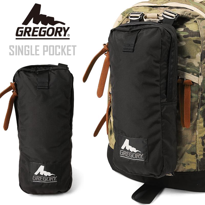 有GREGORY葛利高理SINGLE POCKET單人口袋配件的葛利高理生活方式包能安裝的備用品口袋