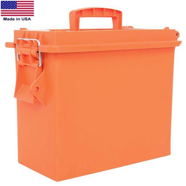 【店内21%OFFセール開催中】Hayes社製 米軍納入アーモボックス オレンジ Tall 肉厚プラスチックに 開閉しやすい片開きタイプ ガレージで工具箱に、部屋の小物入れなど 様々なシーンでご使用ください《WIP03》