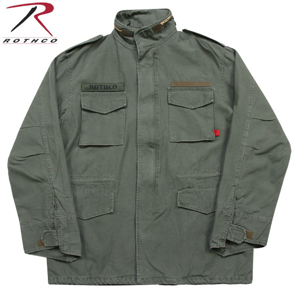ROTHCO ロスコ VINTAGE M-65ジャケット OLIVE 長年着込んだ雰囲気を 見事に再現しています! U.S.ミリタリー名品中の名品《WIP03》