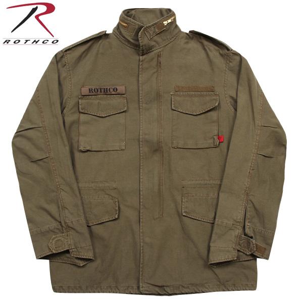 【店内20%OFFセール開催中】ROTHCO ロスコ VINTAGE M-65ジャケット RUSSET BROWN 長年着込んだ雰囲気を 見事に再現しています! U.S.ミリタリー名品中の名品《WIP03》