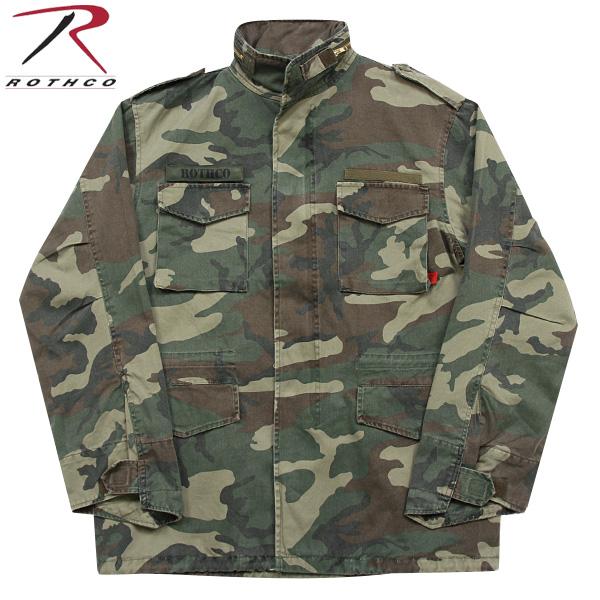 ROTHCO ロスコ VINTAGE M-65ジャケット WOODLAND CAMO 長年着込んだ雰囲気を 見事に再現しています! U.S.ミリタリー名品中の名品《WIP03》