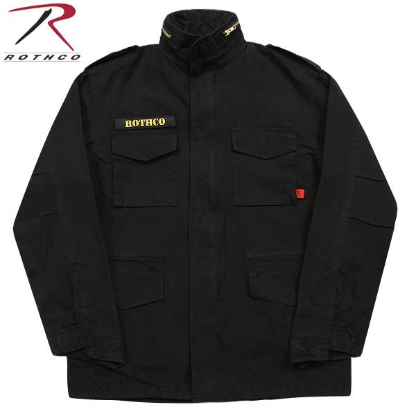 ROTHCO ロスコ VINTAGE M-65ジャケット BLACK 長年着込んだ雰囲気を 見事に再現しています! U.S.ミリタリー名品中の名品《WIP03》