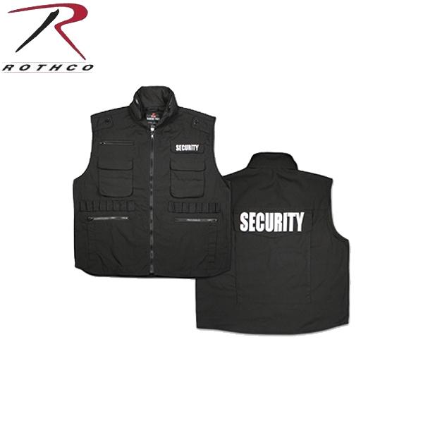 【店内21%OFFセール開催中】【7457】 ROTHCO ロスコ RANGER ベスト / SECURITY 【7457】 「SECURITY」と刺繍してある警備員用ベスト 警備のユニフォームとして大変便利《WIP03》