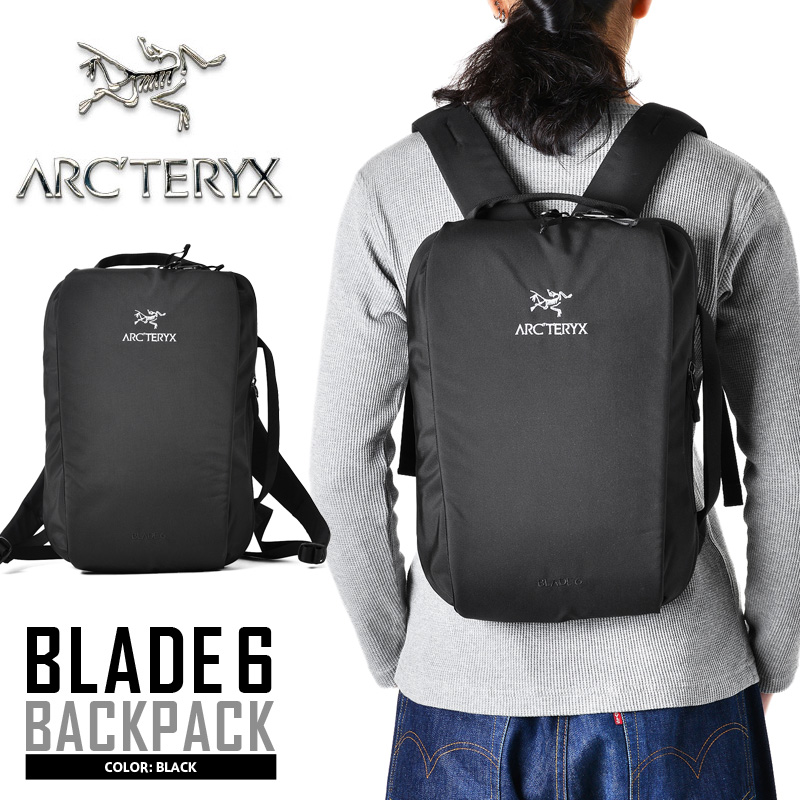 BLACK リュック アウトドア メンズ 【クーポン対象外】 バックパック アークテリクス 13インチ バックパック ラップトップ BLADE ARC'TERYX 6 タブレット