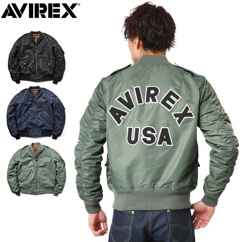 AVIREX アビレックス 6162133 L-2 CM LOGO フライトジャケット《WIP03》【クーポン対象外】
