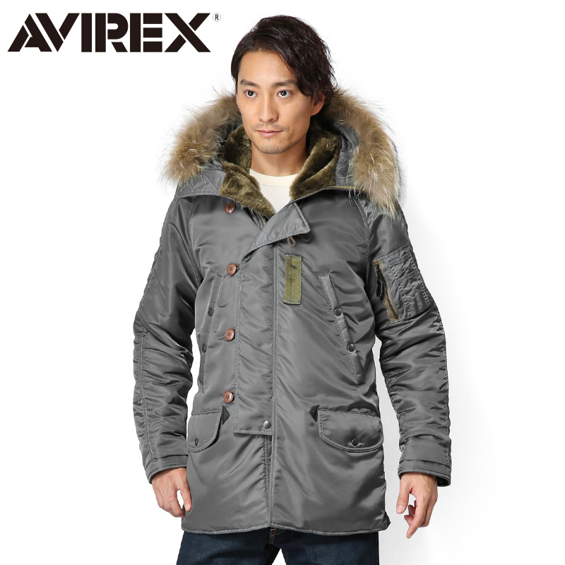 AVIREX アビレックス N-3B VINTAGE フライトジャケット SAGE 6142180《WIP03》【クーポン対象外】