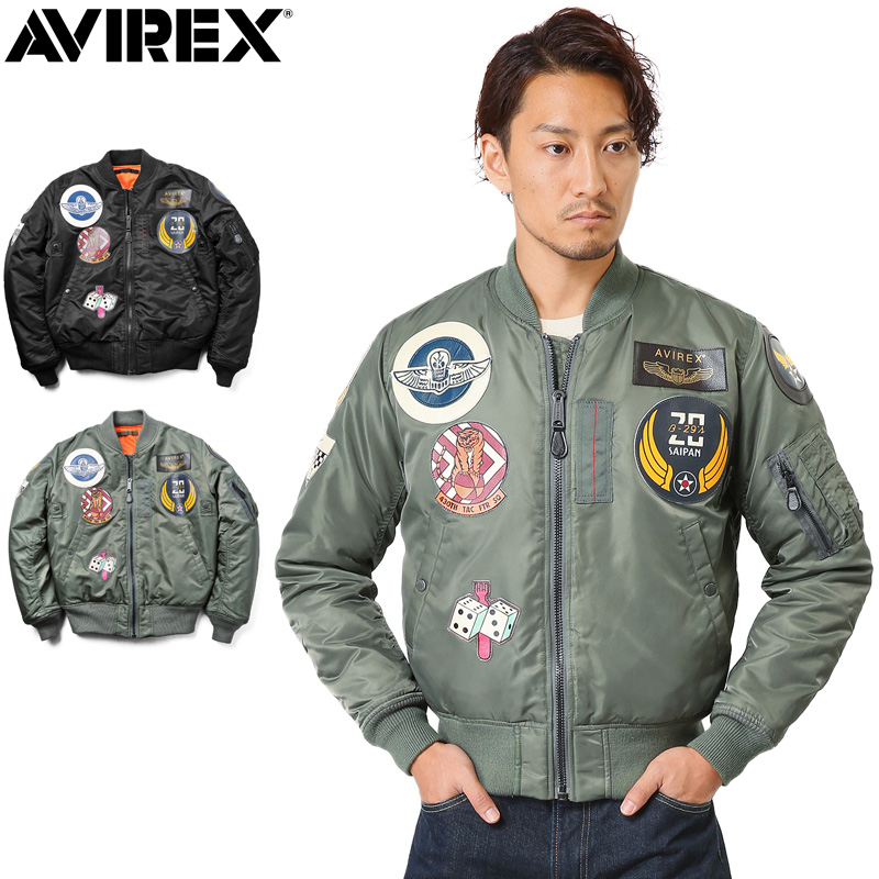 AVIREX アビレックス 6152164 TOP GUN MA-1フライトジャケットミリタリージャケット メンズ MA-1フライトジャケット アウター ジャケット ジャンバー ブルゾン【クーポン対象外】