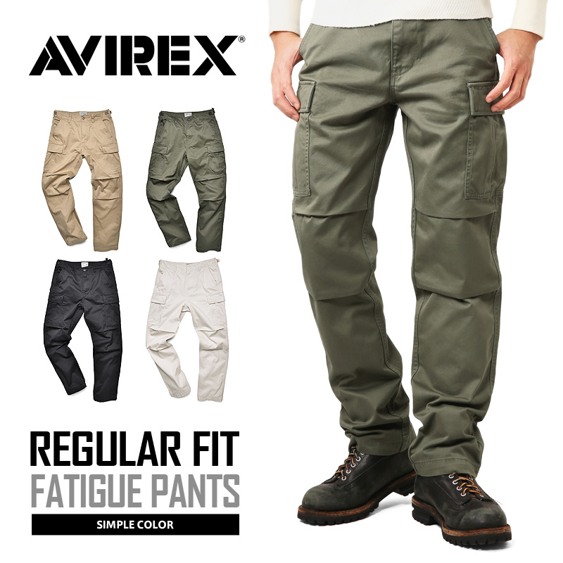 AVIREX アビレックス 6166110 FATIGUE PANTS ファティーグ カーゴパンツ レギュラーフィット《WIP03》【クーポン対象外】
