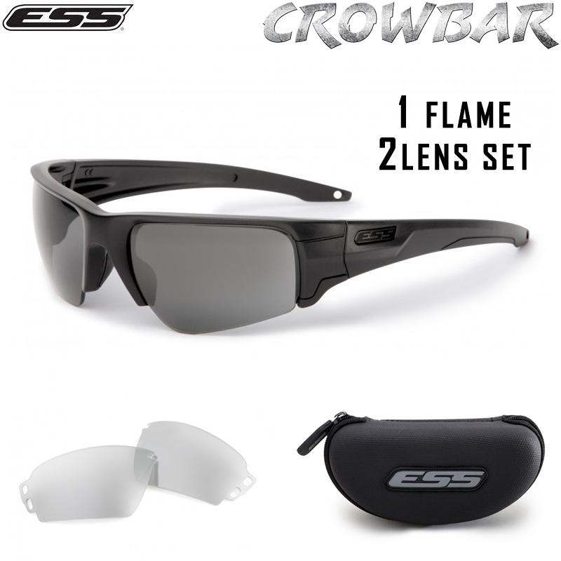 ESS イーエスエス CROWBAR サングラス ブラックロゴ 【EE9019-01】《WIP03》【Sx】