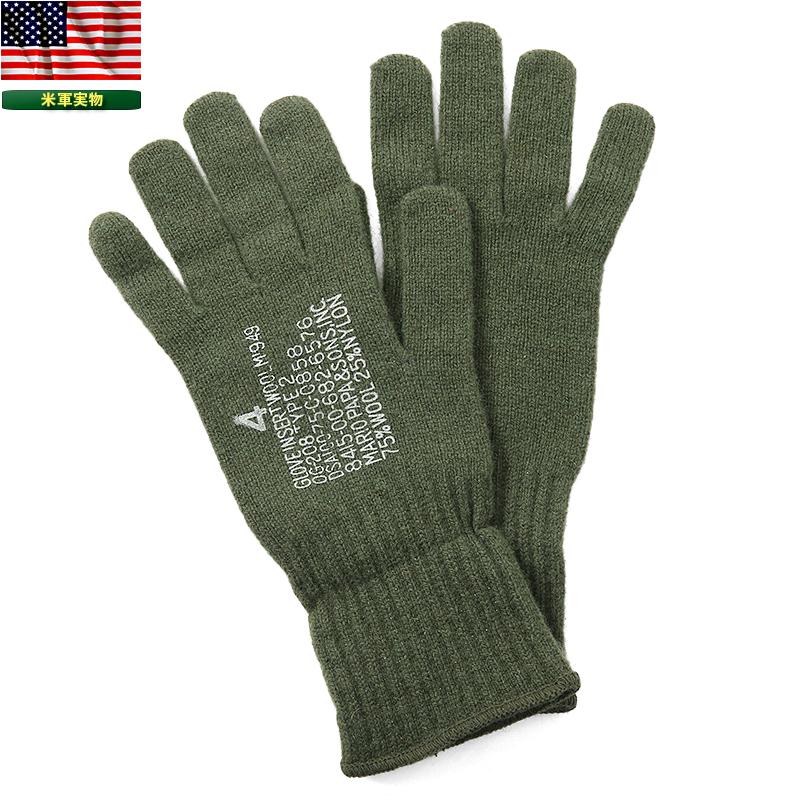 Military select shop WAIPER  Brand new real US Army wool gloves OD ... ba6e3296812
