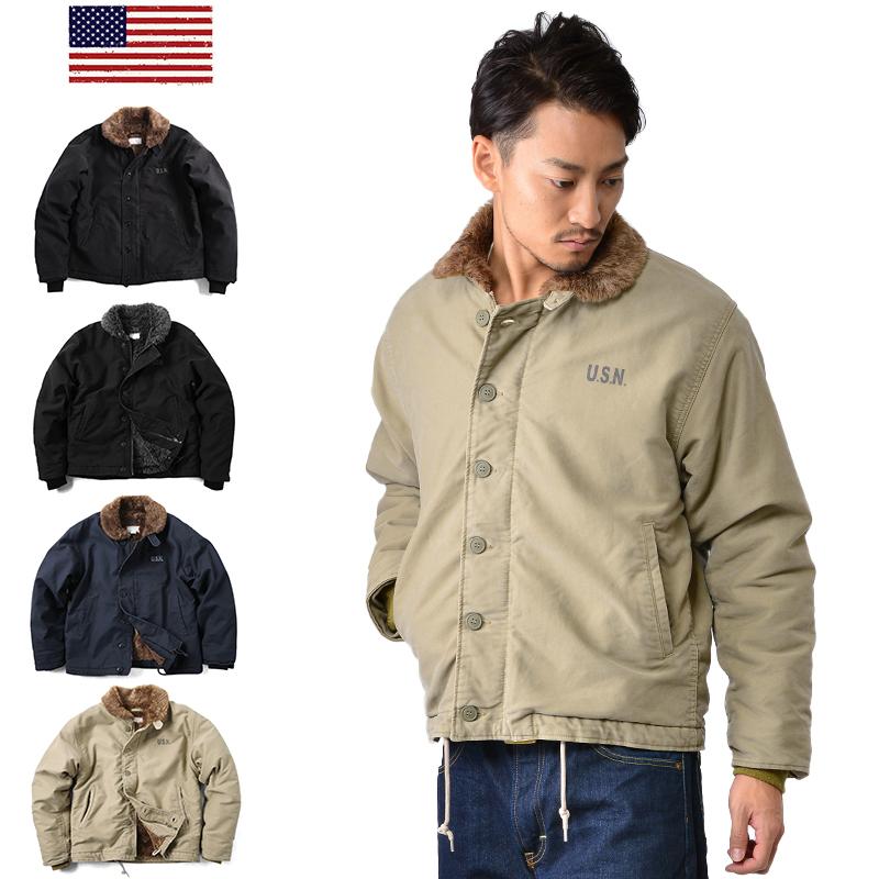 【店内20%OFFセール開催中】新品 米軍 N-1デッキジャケット USED加工