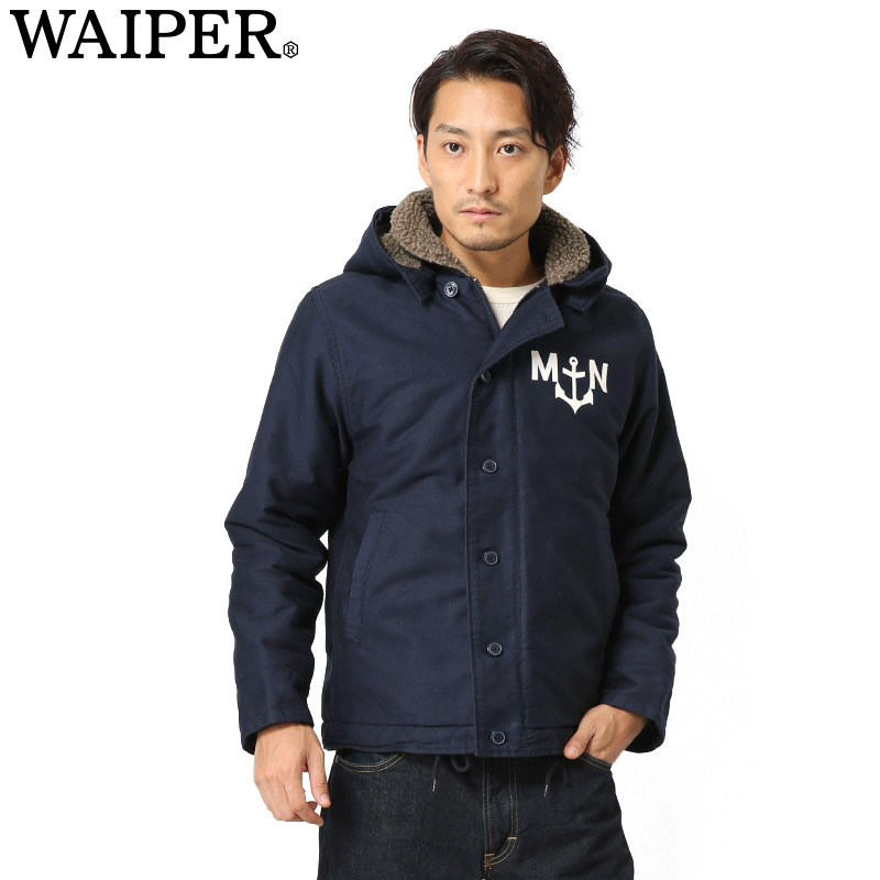 新品 フランス海軍デッキジャケット NAVY WP23 WAIPER.inc 《WIP03》【Sx】