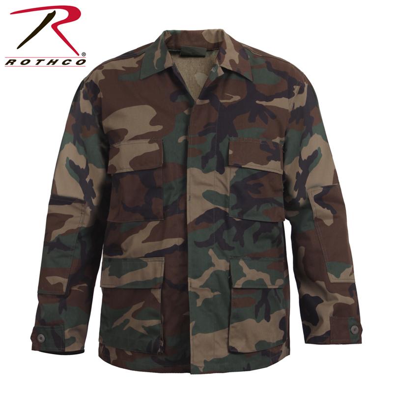 a0323a55664e4 ROTHCO Roscoe CAMO BDU shirt jacket 7940 Woodland Camo  メンズミリタリートップスタクティカルサバイバルゲームアウトドア ...