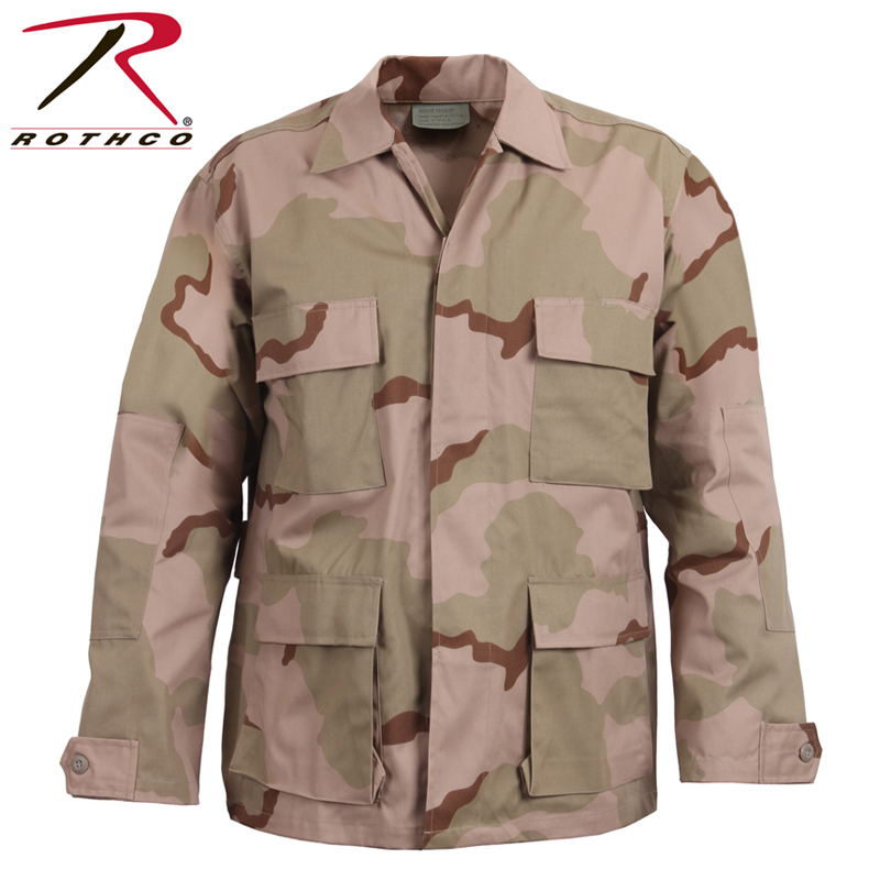 43a9ae983e637 ROTHCO Roscoe CAMO BDU shirt jacket 8960 Tri-Color Desert Camo  メンズミリタリートップスタクティカル ...